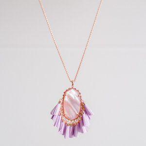 Kendra Scott Pendant Tassel Necklace Betsy Lilac